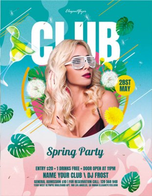 Club Spring Party V2306 2020 Flyer PSD Template