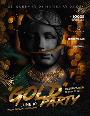 Gold Party V2306 2020 Flyer PSD Template
